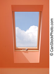 View through the window.