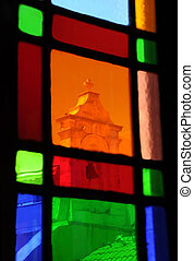 View Thru the Stained Glass Window