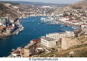 View to Balaklava bay in Crimea