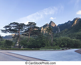 View to beautiful mountains in Seoraksan National Park. Summer. South Korea