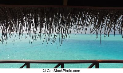 view to bungalow straw shed and sea - travel, tourism,...