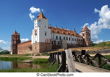 View to Castle - View to Mir Castle, Belarus