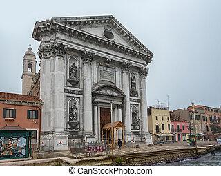 View to Church Il Gesuati or Church Santa Maria del Rosario...