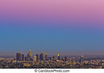 view to downtown Los Angeles