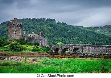 View to Eilean Donan Castle in Scotland
