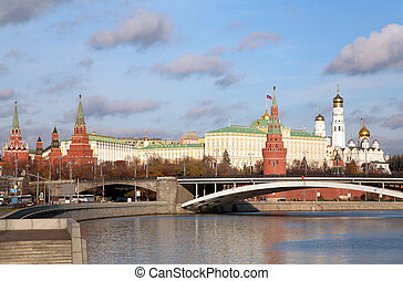 view to Kremlin with Moscow - rivers
