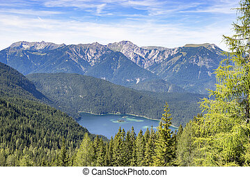 View to lake Eibsee