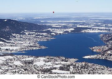 View to lake Tegernsee, Bavaria, Germany