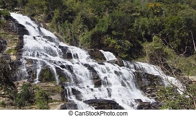 View to Mae Ya Waterfall. Chiang Mai, Thailand. 4k Ultra HD video