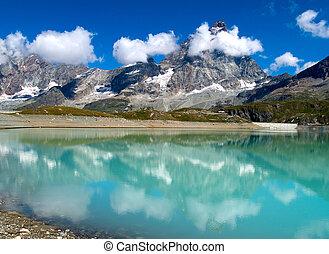 Matterhorn - View to Matterhorn from Cervinia in italian ...