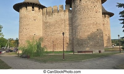 View to medieval fort in Soroca, Republic of Moldova. - Down...