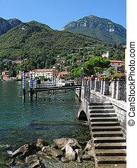 View to Menaggio town at famous Italian lake Como