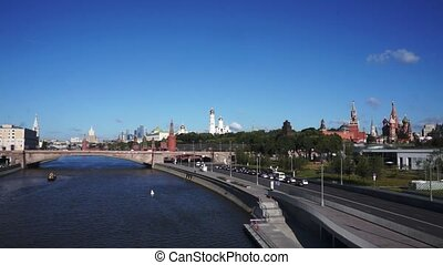View to Moscow Kremlin. City Centre. Russia.