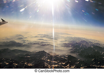 view to mountains of the pyrenees