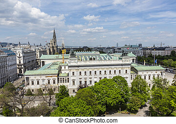 view to parliament building in Vienna