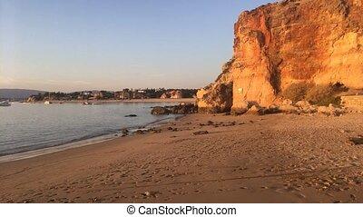 View to Praia do Molhe beach in Ferragudo, Portimao, Algarve
