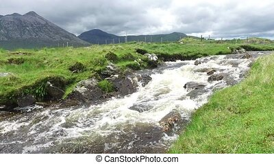 view to river and hills at connemara in ireland 36 - nature...