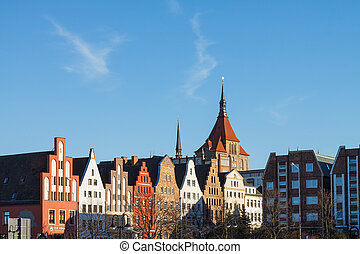 View to Rostock (Germany).