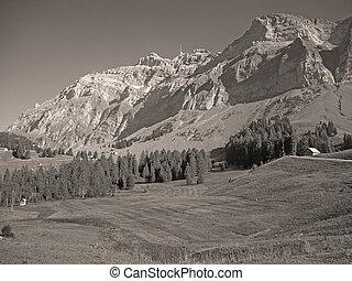 View to Saentis in Switzerland