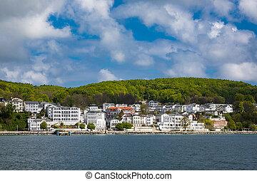 View to Sassnitz on the island Ruegen (Germany).
