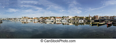 scenic old village of Martigues at the french riviera