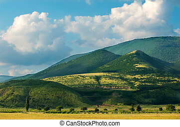 View to Stara planina in Bulgaria near town of Sliven. Landscape