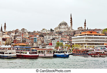 view to Suleymaniye Mosque, Istanbul - view to Suleymaniye...