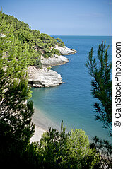 View to the Adriatic sea in south Italy