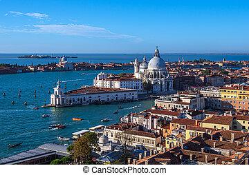 View to the church Santa Maria della Salute in Venice, Italy...
