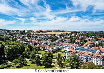 View to the city of Kuehlungsborn, Germany