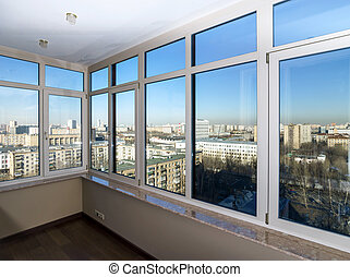 View to the city through new windows - View to the city...