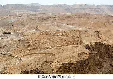 View to the desert from Masada