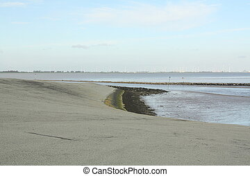 View to the Dollard. Netherlands