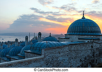 View to the Golden Horn, Istanbul, Turkey.