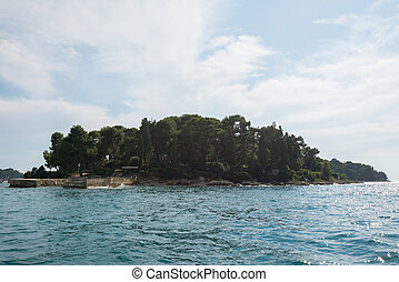 View to the island in Croatia