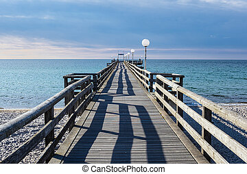 View to the jetty in Rerik, Germany