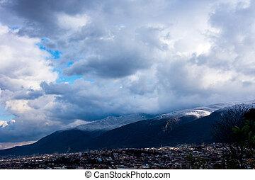 view to the mountain Uludag in Bursa