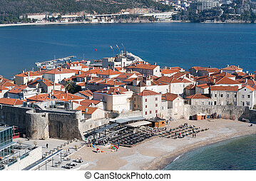 view to the Old Town of Budva