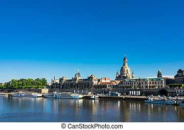 View to the old town of Dresden, Germany