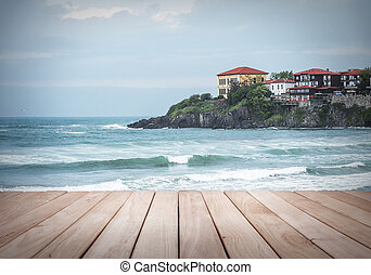 View to the old town of Sozopol, Bulgaria.