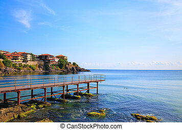 View to the old town of Sozopol, Bulgaria