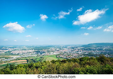 View to the town Aalen