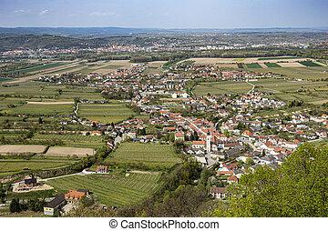 view to village of Furth near Gottweig, Krems, Austria