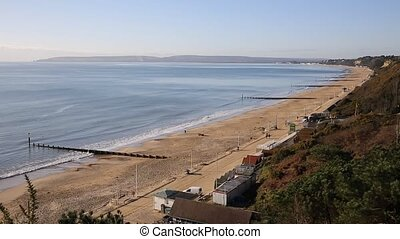 View to west Bournemouth coast