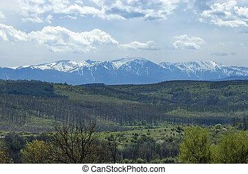 View toward Central Balkan mountain, Bulgaria