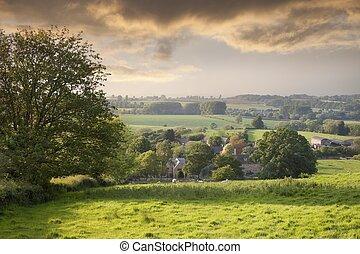 Broad Campden, Gloucestershire, England - View towards Broad...