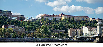 View towards the Castle area of Budapest