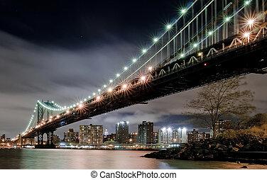 Manhattan Bridge - View under the Manhattan Bridge