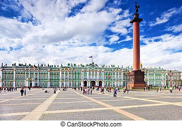 View Winter Palace in Saint Petersburg. Russia. - View ...