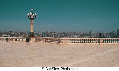 Viewing platform in Baku, Azerbaijan. Landscape view of...